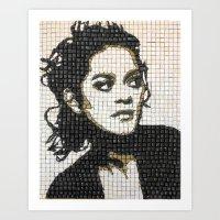 Keyboard Mosaic Art Print