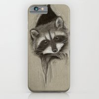 iPhone Cases featuring Raccoon by Daydreamer