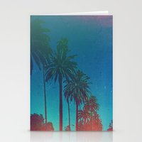 los angeles Stationery Cards featuring Los Angeles. by Daniel Montero