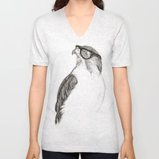 Hawk with Poor Eyesight Unisex V-Neck