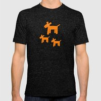 Dogs-Red Mens Fitted Tee Tri-Black SMALL