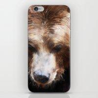 Bear // Gold iPhone & iPod Skin