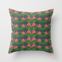 Hills are alive Throw Pillow