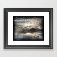 The Waves Of Lake Michig… Framed Art Print