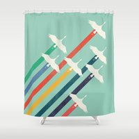 The Cranes Shower Curtain