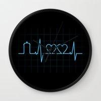 Two Heartbeats Wall Clock