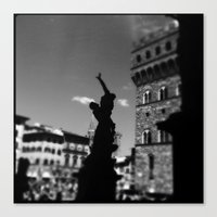 Canvas Print featuring statue by SABOTAGE