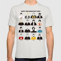 TV series Mens Fitted Tee Silver SMALL