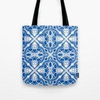 Dotted Tile: Vibrant Blue  Tote Bag
