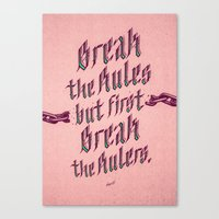Break The Rules (variant… Canvas Print