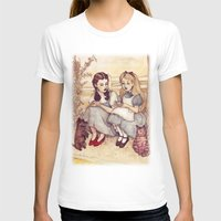 alice T-shirts featuring Dorothy and Alice by Helen Green