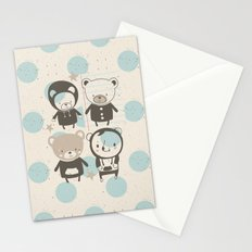 Brown Paper Bears Stationery Cards