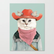 Rodeo Cat Canvas Print