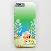 iPhone & iPod Case featuring picking mushrooms by Caracheng