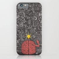 iPhone & iPod Case featuring My Brain Won't Stop by Fathi