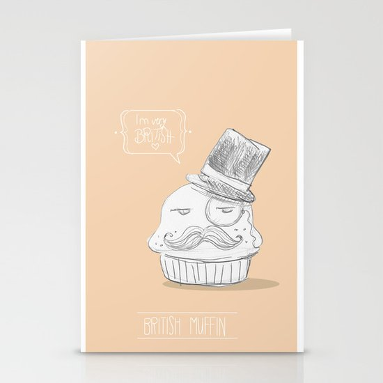 british muffin Stationery Card
