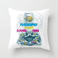 Philosophy is not a junk food Throw Pillow