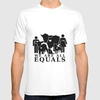 Earthlings Mens Fitted Tee White SMALL