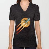 Rocket:  2nd Star To The… Unisex V-Neck