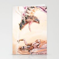 Leviathan Against Shiva Stationery Cards