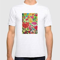 Flowers Mens Fitted Tee Ash Grey SMALL