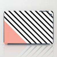 Diagonal Block - Pink iPad Case