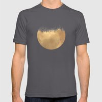 Brushed Gold Mens Fitted Tee Asphalt SMALL