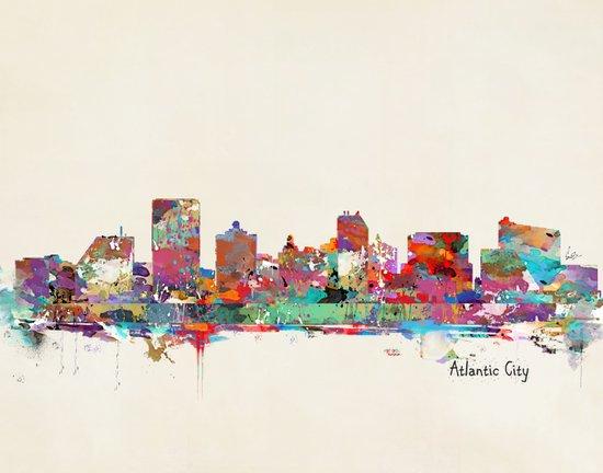 Atlantic city New Jersey skyline Art Print