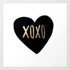 XOXO x Gold Art Print