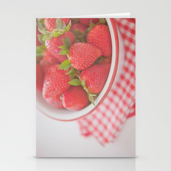 Starwberries Stationery Card