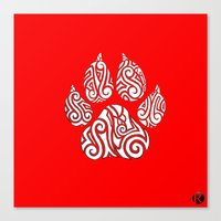 Tribal Tiger Paw Canvas Print