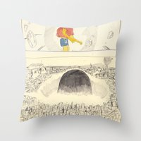 The Destruction Of Neo-s… Throw Pillow
