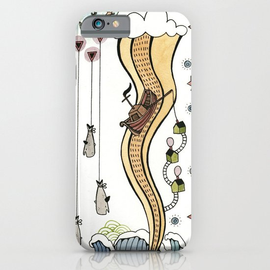 Hanging Whales iPhone & iPod Case