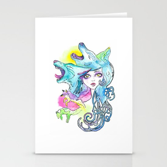 Miss Canine Stationery Card