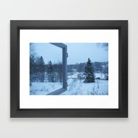 The Blue Moment - Finland in the winter #4 - Fiskars Artist Village  Framed Art Print