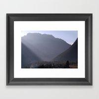 Morning Light Pisang Framed Art Print