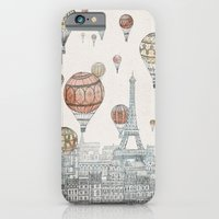iPhone Cases featuring Voyages Over Paris by David Fleck