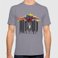unzip the colour code Mens Fitted Tee Slate SMALL