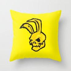 Bad rabbit Throw Pillow