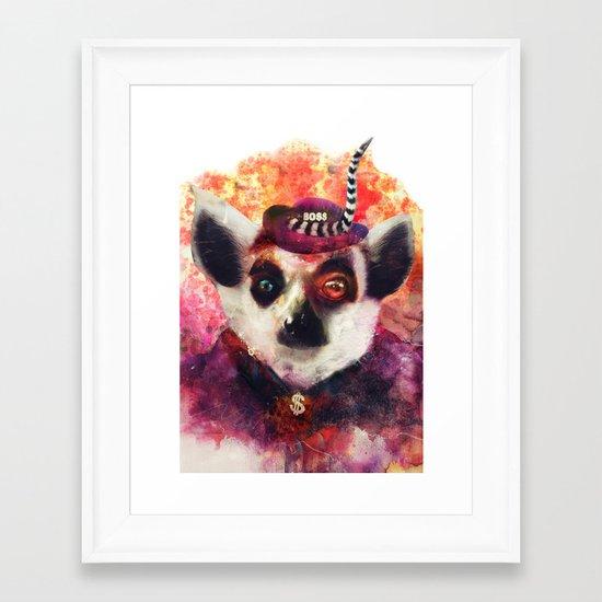Lemur ( The Pimp Le-Mur ) Framed Art Print