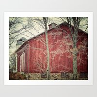 The Red Barn Art Print