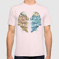Luna Roca Mens Fitted Tee Light Pink SMALL