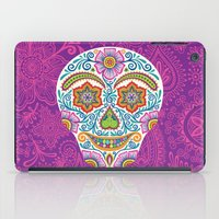 Flower Power Skully iPad Case