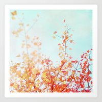 The Red and Yellow Tree Art Print