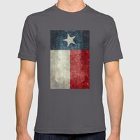 Texas State Flag, Vertic… Mens Fitted Tee Asphalt SMALL