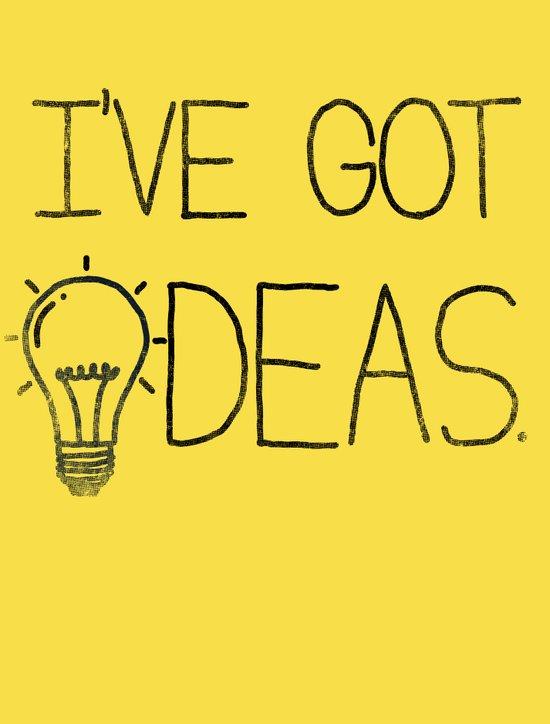 I've got ideas! Art Print