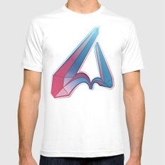 LETTER V White Mens Fitted Tee SMALL