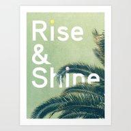 Art Print featuring Rise & Shine by Anna Dorfman