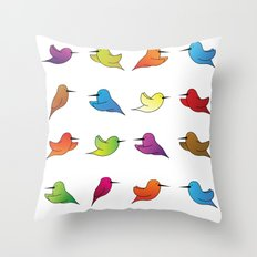 Humming Birds Throw Pillow