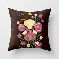 Floral Flower Artprint Throw Pillow